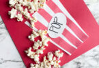 Popcorn is not only fun to eat, but makes a fun, inexpensive material to make cute crafts for kids. This adorable popcorn craft is not only fun to make, but perfect for celebrating National Popcorn Day on January 19th. So pop a bown of popcorn, make this cute preschool popcorn craft, and then watch a movie while you eat the leftover supplies. This is a fun craft for preshool, toddler, kindergarten, pre-k, and first grade students.