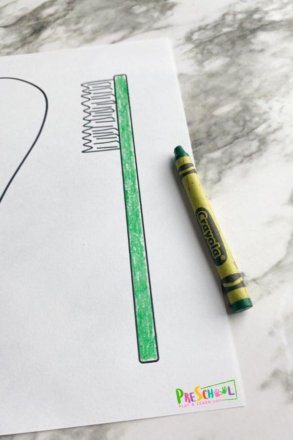 toothbrush craft preschool