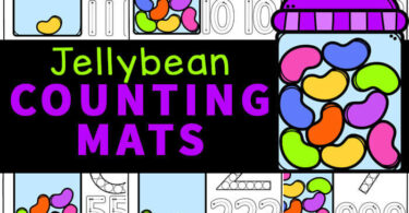 Make learning fun with this super cute jelly bean counting activity! This jelly bean activities uses jelly bean candy and our jelly bean printables for a hands-on counting math activity for toddler, preschool, pre-k, and kindergarten age students. Kids will love these fun Easter Activity for preschoolers for strengthening fine motor skills as they count to 10. Simply download pdf file withpreschool easter activity.