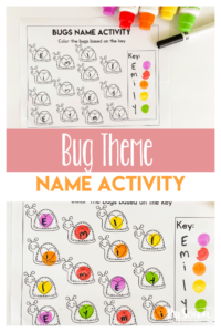 Looking for clever preschool name activities? Spring is here which means a bug theme for your toddler, preschool, pre-k, and kindergarten age student to learn their name. Thisname recognition activities name activity is just what you need to enjoy insects while completing some name recognition preschool.Simply print pdf file withname recognition worksheets and you are ready to play and learn!