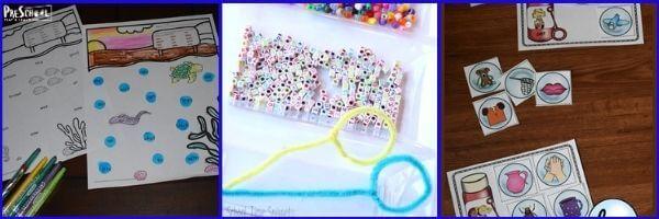 Preschool Bubbles Literacy Activities: