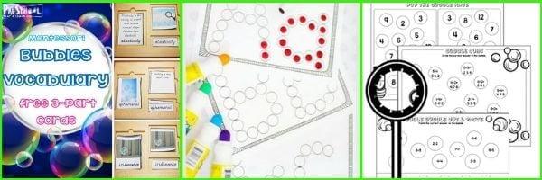 Bubbles Printables for Preschoolers