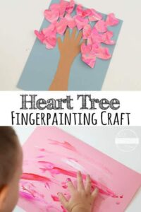 fingerprint valentines day craft idea