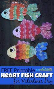 fish valentines day craft