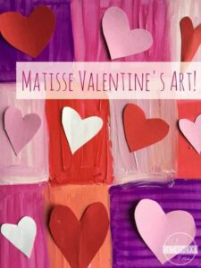 matissee heart valentines day art project for kids