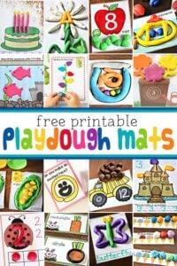 100 free printable playdough mats
