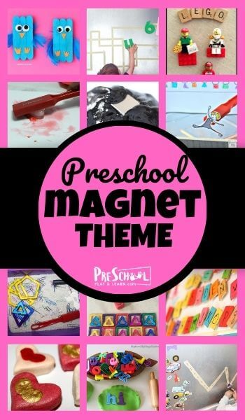 Learn about magnets for kids by using fun, engagin preschool magnet activity ideas in our magnet theme! We have lots of magnet printables andmagnet activities for preschoolers, toddlers, kindergartners, and grade 1 students. Now you can do more than just dive into amagnet experiments for kids, you can have a interactive day or week of learning with magnets!