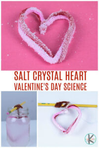 salt crystal heart valentiens day science experiment
