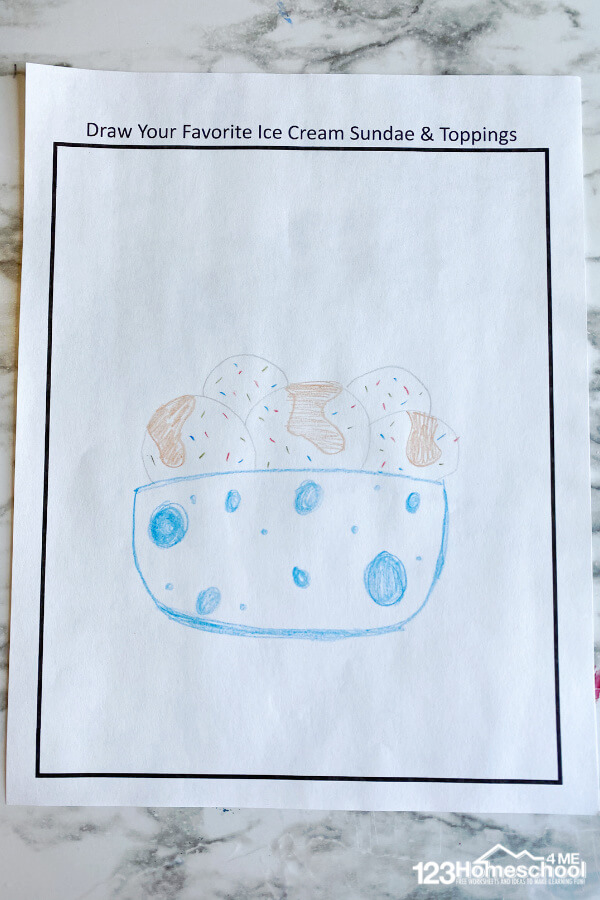 Ice cream pictures to color