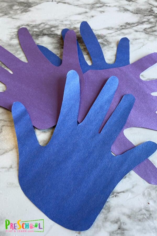 Peacock Handprint Craft
