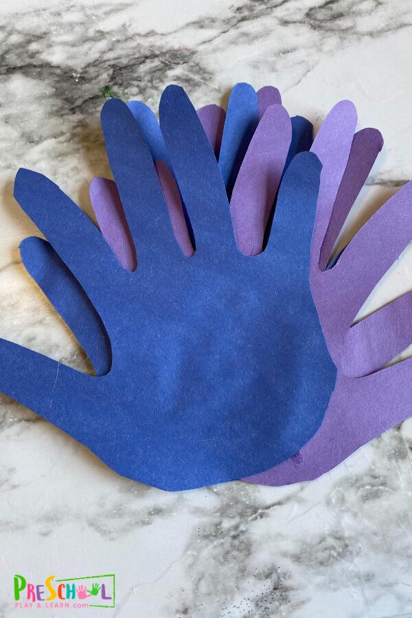 Peacock craft for preschoolers