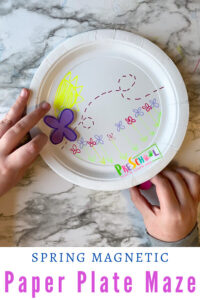 Kids will love making and playing with these paper plate magnetic mazes. Thispreschool magnet activity is such a creative STEM activity that combines problem solving, art, and science for an EPIC activity kids will love! Thismagnet experiments for kids is perfect for preschool, pre-k, kindergarten, and first grade students. All you need are a few simple materials and you are ready to learn and play with thismagnet activities for kids.