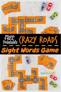 Sight Words Game Kindergarten