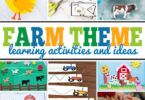 Learn all about farms with this delightful week-long, educational farm theme. TheseFarm Activities will make practiceing a variety of skills fun while learning about life on the farm.Pick your favorite farm activities for kids including farm math, farm literacy printables, farm science projects, farm social studies ideas, and farm crafts to have a marvelous week learning with your kids! This life on the farm theme filled with barnyard animals is perfect for preschool, pre-k, kindergarten, first grade, 2nd grade, and 3rd grade students.