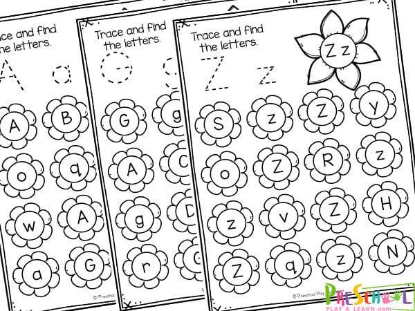 find the letter worksheets