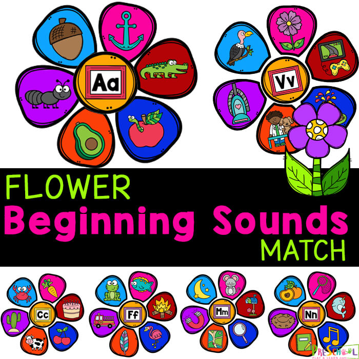 Cute flower activity for preschoolers to practice letters and sounds they make. Beginning Sounds Activity is a fun initial sounds game.