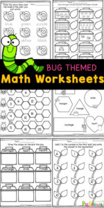 Kids will be excited to practice math with a funbug theme twist! These preschool math worksheets are filled with cute bugs to help preschoolers, toddlers, and kindergartners practice numbers, counting, shapes, colors, shape discrimination, missing numbers adding 2, and more. Add these pre-k math worksheets to your spring theme or as summer learning to avoid the summer learning loss. Simply download pdf file withbug worksheets for preschoolersand you are ready to play and learn!