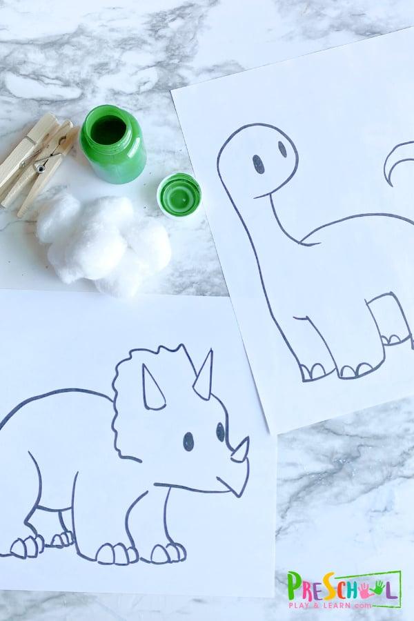 Dinosaur Preschool Crafts