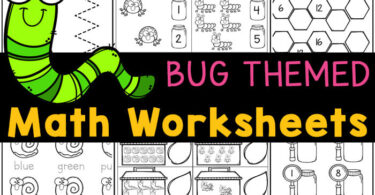 BUGS make these preschool math worksheets fun for preschoolers! Download pre-k math worksheets with a bug theme here!