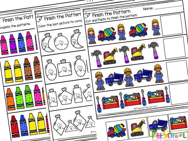 Pre-k Pattern Worksheets