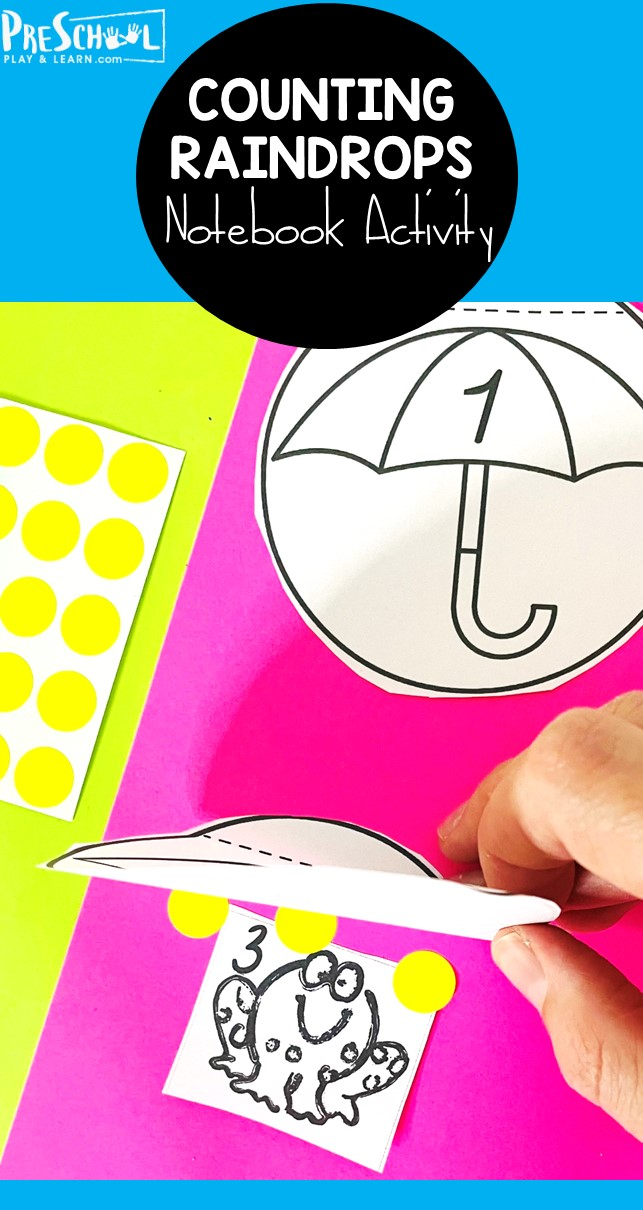Help kids practice counting and recognizing numbers to 12 with this super cutespring activity for preschoolers! In thisspring math, preschool, pre-k, and kindergarten age children will help the frog find an umbrella to keep him out of the spring rain by matching numbers. Then add raindrops with dot stickers or crayons to work on number sense as they represent the numberal. Simply download pdf file withspring printable and you are ready forspring math for preschool.