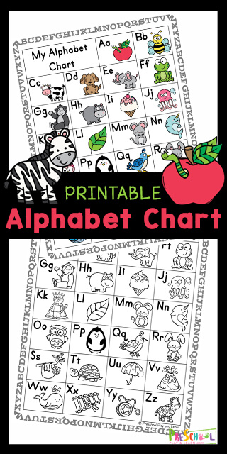 Young children will have fun learning the letters of the alphabet from A to Z and sounds they make with this colorful alphabet chart. This alphabet chart for kids is handy for early learners such as toddler, preschool, pre-k, kindergarten, and first grade students. There are so many uses for an abc chart for kids at home, homeschooling, and in the classroom. Simply download pdf file with alphabet chart pirntable and you are ready to play and learn!