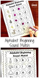 beginning sounds worksheets with do a dot markers