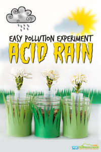 earth day science pollution experiment for kids