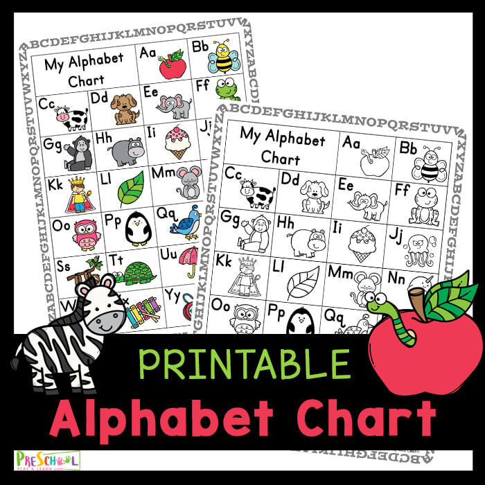 Learn Letters and their sounds with this FREE Printable alphabet chart for kids. Downlaod ABC chart for kids.