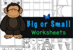 Work on visual discriination with these Big and Small Worksheets. Preschoolers will identify big or small or big, bigger, biggest.