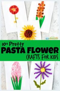 pastas Flower Crafts for Kids