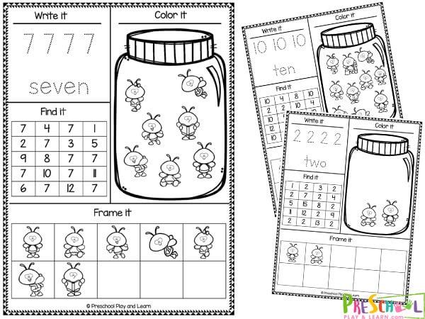 Number Worksheets for Preschool