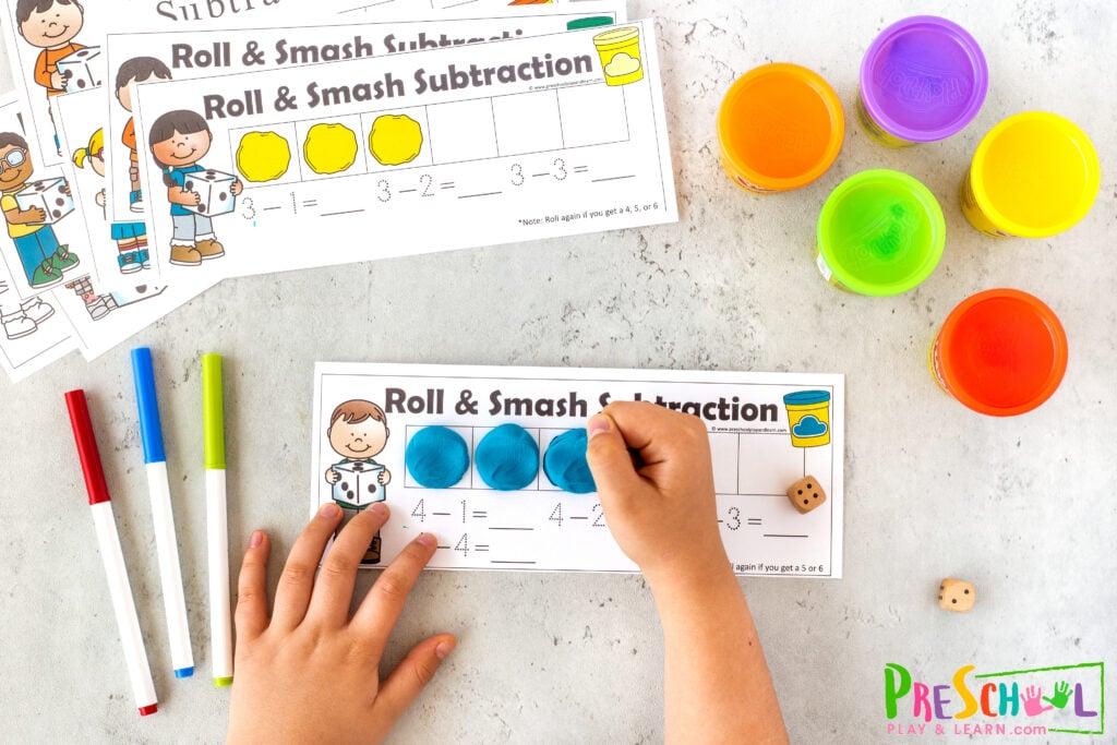 Playdough Activities for Preschool