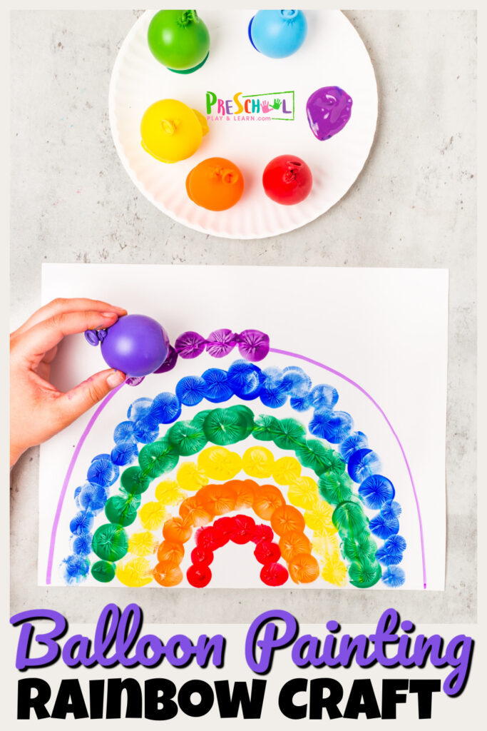 Super simpleballoon paintingproject for toddlers and preschoolers. This FUNsummer activity for kids is a great balloon paint art project!