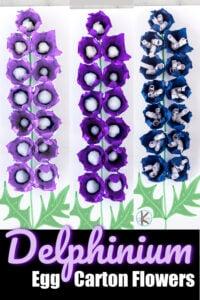 Delphinium egg carton craft