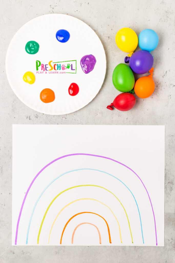 rainbow painting for kids