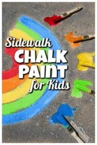 2 ingredient sidewalk chalk paint