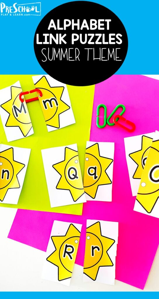 Looking for a fun, educationalsummer activity for preschoolers? This cute sun themeletter matching activityis a great way to help preschool, pre-k, and kindergarten students practice pairing upper and lowercase letters. Simply printpdf file withsummer printables and you are ready for some engagingsummer learning!