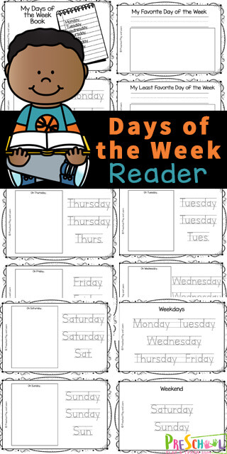 This Days of the Week Book is a great way to work on reading and writing skills while learning about the 7 days that make up our week and their abbreviation. Use days of the week printables as part of a days of the week study, reading or writing practice or for extra work for those preschool, pre-k, kindergarten, and first grade students who complete their work early. Simply print the pdf file with Days of the Week Printables and you are ready to learn!