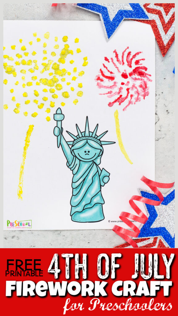 Kids will love making this beautifulfirework craft to celebrate America' Independence Day on July 4th. Thissummer crafts for preschoolers uses a free4th of July printable as a starting point. Then children will use a simple, but stunning watercolor painting with salttechnique to make thisindependence day craft ideas. Use thisfourth of July crafts for preschoolers, toddlers, kindergartners, grade 1, grade 2, and grade 3 students too.