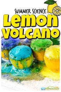 Lemon volcano experiment