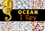 Work on visual discrimination skills, counting, and more with I spy worksheets. This set of I spy printables dives under the sea to help children look for some beautiful ocean animals. Thisi spy ocean animals is perfect for preschool, pre-k, kindergarten, first grade, and even 2nd graders too. Not only will children learn about animals and plants that live in the ocean with this FUN Ocean I Spy, but will work on their counting skills to. Simply print Ocean Worksheetsand you are ready to play and learn!