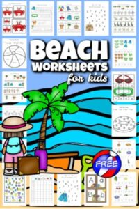 beach worksheets for preschoolers