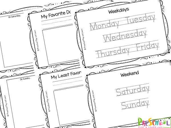 days of the week printable free