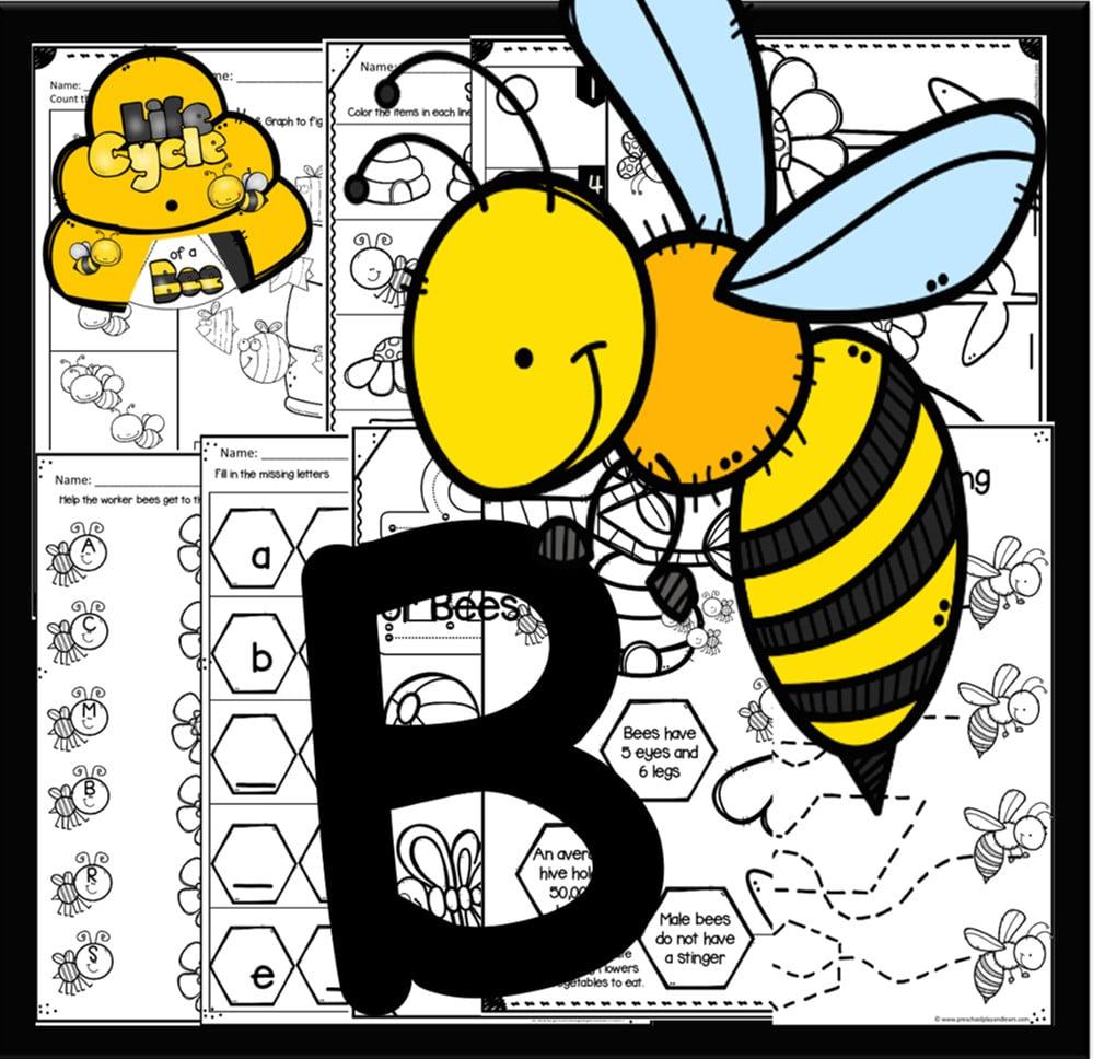 letter b printables for preschoolers