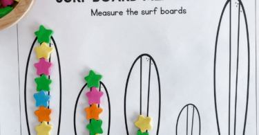 Summer is a great time to sneak in some fun math skills like preschool measuring! This measuring activities for preschool helps pre-k and kindergarten age students work on some fun preschool summer math. While this measurement activity probably seems a little unconventional to adults but they are utterly engaging to kids. We want to hook our kid's interest and attention by focusing on hands-on play and manipulatives that they can touch and feel while they learn. Simply download pdf file withsummer worksheets for preschoolers and you are ready for apreschool summer activity.