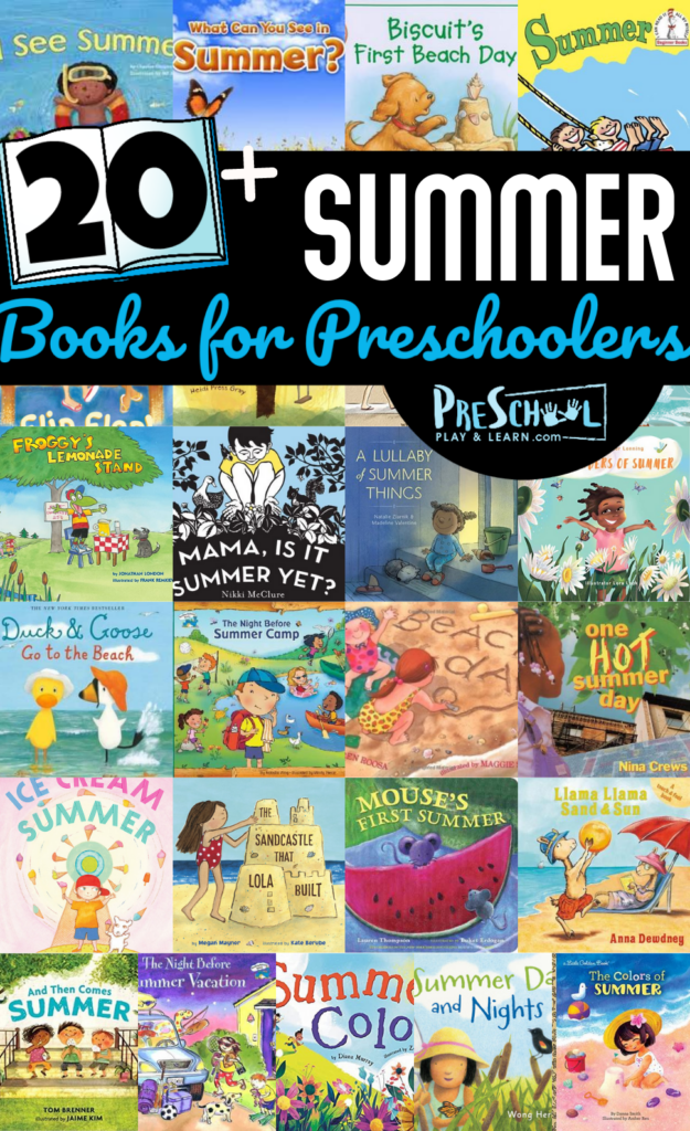 Summer is full of sunny days, ice cream treats, and days spent on the beach. This list of summer books for preschoolers includes lots of popular characters, fun summer activities, and delicious warm weather snacks. Pack thesesummer books for kids in your bag for some beach reading, or a family picnic! THsechildren's books about summer are perfect for toddler, preschool, pre-k, kindergarten, first grade, 2nd grade, and 3rd graders too!