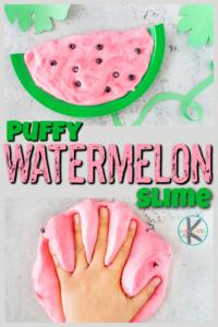 fluffy watermelon slime