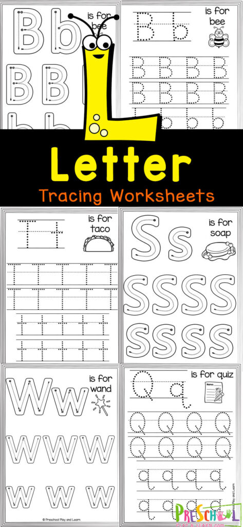 Help kids get all the practice they need writing upper and lowercase letter with these super cute letter tracing worksheets. Thesefree printable preschool worksheets tracing letters are a handy way to give kids the practice they need forming capital ad small letters. What's best, these alphabet worksheets are no-prep which makes them a breeze for parents, teachers, and homeschoolers. Use theseabc worksheets with toddler, pre-k, and kinderagrten age children for strengthening literacy and fine motor skills of letters from A to Z. Simple printfree letter tracing worksheets and you are ready to play and learn!