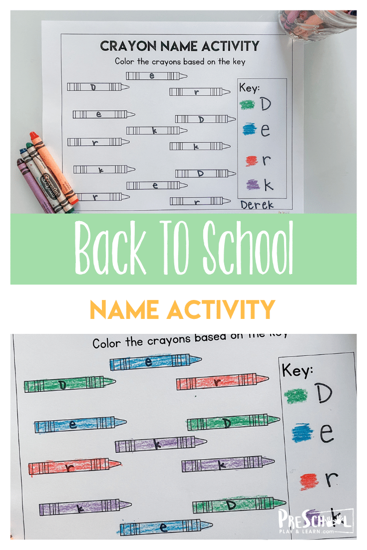 Learning your name is a big deal in preschool and this back to school preschool name activity is prefect for the beginning of the school year. Thisname recognition preschool is handy to use as aback to school activities with toddler, pre-k, and kindergarten age children. Plus, thisname recogntion activity is a great beginner activity for students who are learning the letters in their name as well as for the kiddos who need a refresher or are learning to spell their name. Simply printback to school worksheets and you are ready for thisfirst day of school name games.